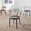 Скандинавские Ins прозрачные PC Пластиковые обеденные стулья для ресторана  подходящие для обеденного стула  современные офисные дома  спаль...