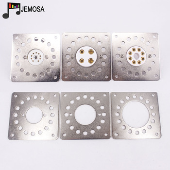 1PC Vacuum Tube Shock Proof Iron Plate Tube Socket Mounting Plate 6V6 KT66 6550 2A3 300B KT88 EL34 Hifi Audio Tube Amplifier image