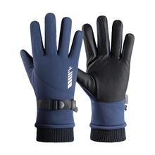 Новинка зима велоспорт перчатки полный палец велосипед перчатки противоскользящие мотоцикл MTB дорога велосипед защита от ветра водонепроницаемый теплый кемпинг катание на лыжах