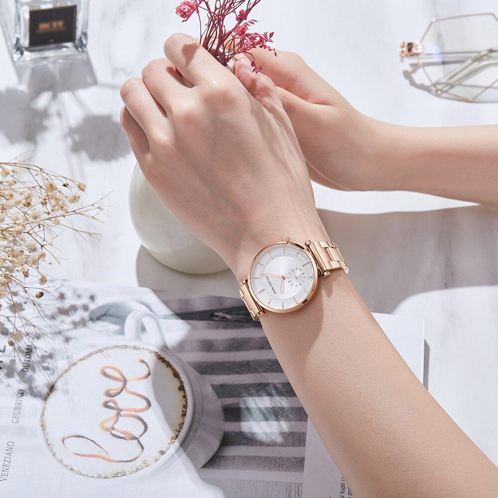 Image 4 - MINI FOCUS Women Watches Brand Luxury Fashion Ladies Watch 30M Waterproof Reloj Mujer Relogio Feminino Rose Gold Stainless SteelWomens Watches   -