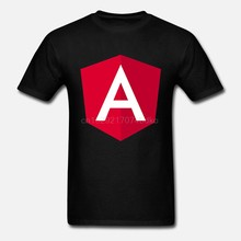 T-shirts de algodão de algodão estampado de manga curta angular 2