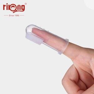 Image 5 - Rikang 3Pcs תינוק מברשת שיניים סיליקון מברשת תינוק פריטים ילדי נקי נשיר שן מברשת תינוק פריטים משלוח חינם