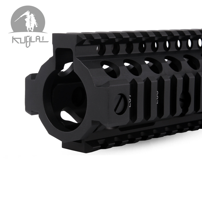 "Aluminum Hard Coat Anodized MK18 RISII 7""9""12"" Airsoft handguard Black CB Tactical Rail for AEG GBB Gel Blaster(China)"