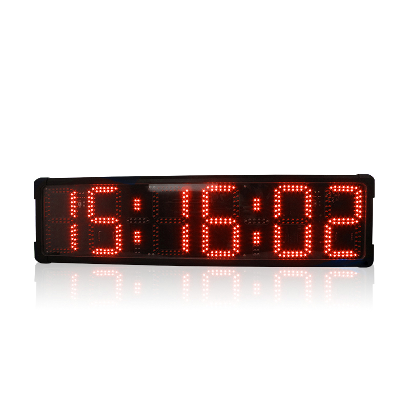 8'' Hot-selling LED Countdown Marathon Timer Large Square Race Timing Clock With Stopwatch Functions