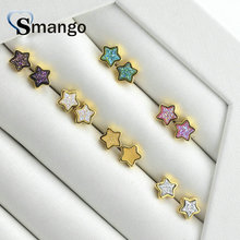 Natural Stone Earrings,Fashion Jewelry,The Star Shape for Women, 5pairs,6 Colors,Can Wholesale