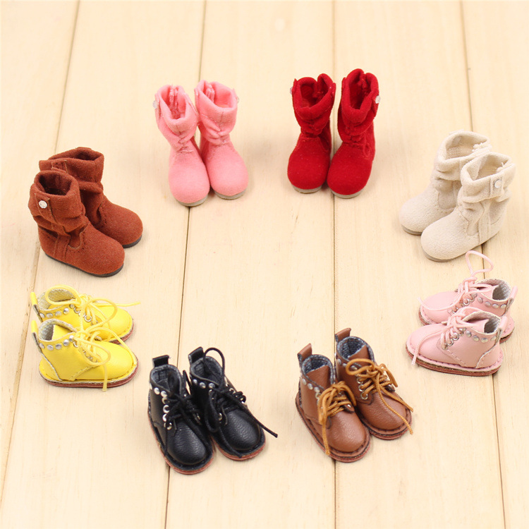 1 Pair Blyth Doll Toys Shoes Plush Snow Boots Martin Boots Shoes For 12 Inch 1/6 Blyth Joint Doll Accessories Kids Toys Gifts