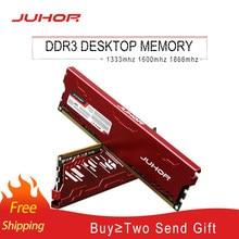 JUHOR memoria Ram DDR3 8GB 1600MHz 1333MHz 1866MHzDesktop pamięć ram nowe dimm DDR3 RAMs z radiatorem