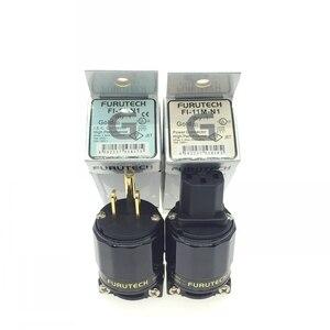 Image 2 - FURUTECH HIFI FI 11M N1 / FI 11 N1(G) قابس طاقة الصوت 24K مطلية بالذهب IEC موصل التوصيل 1set/2 قطعة 15A/125 فولت Hifi ماتيهور hi