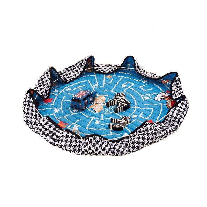 150cm Baby Play Mat Game Blanket Pad Kids Play Carpet Climb Mat Crawling Mat  Sundries Pouch Toys Storage Bag 1pc