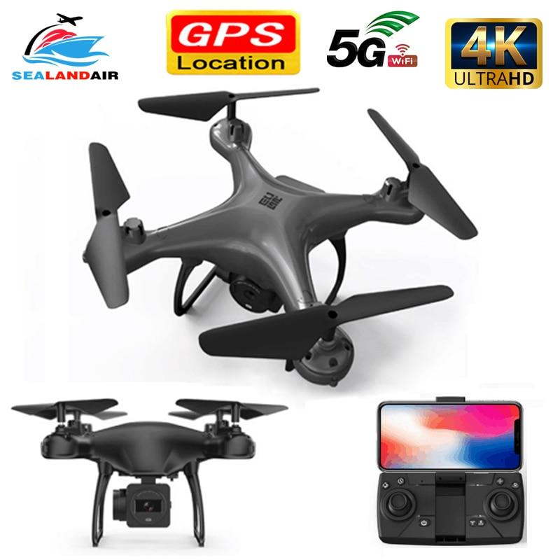 New 2020 Mini GPS Drone Camera HD 50x Zoom Follow Me RC Quadcopter 5G WIFI FPV Live Video Drone 4K Profissional Quadrocopter Toy