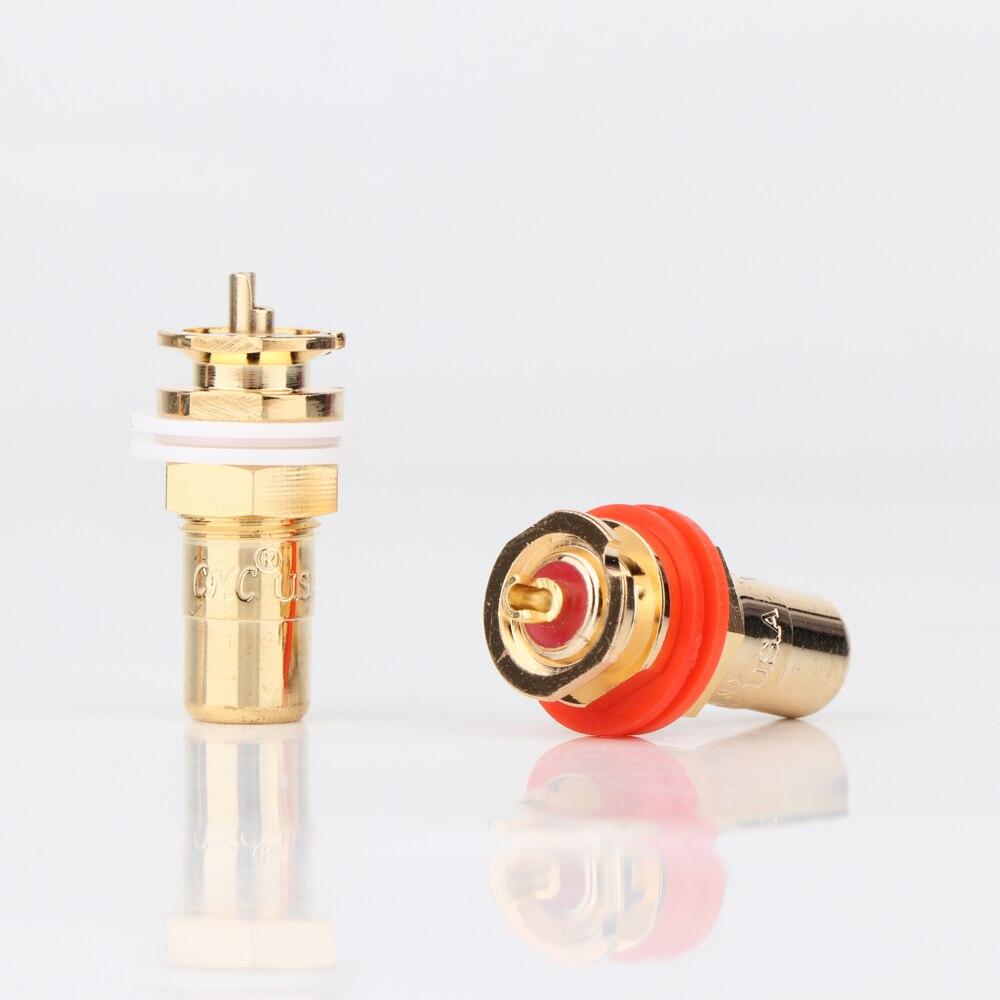4 шт./8 шт. CMC 816-U RCA разъем RCA разъемам Позолоченный разъем