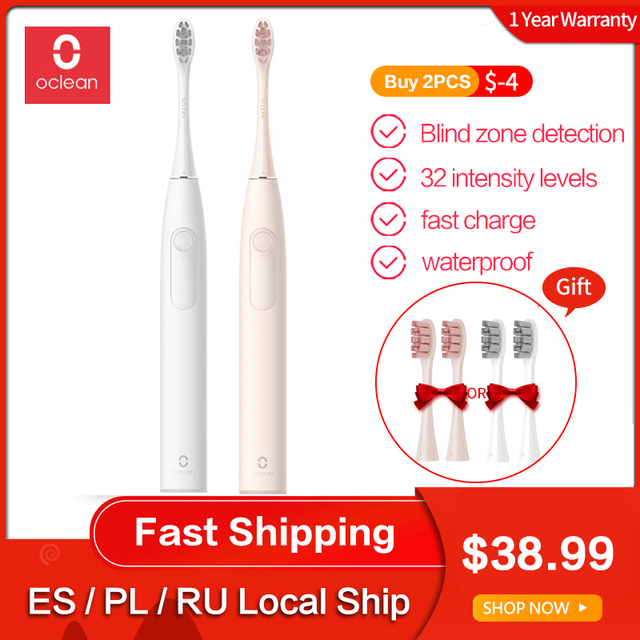 $ US $38.99 Oclean Z1 Sonic Electric Toothbrush Adult IPX7 Waterproof USB Ultrasonic Automatic Fast Charge Tooth brush Teeth Cleaning
