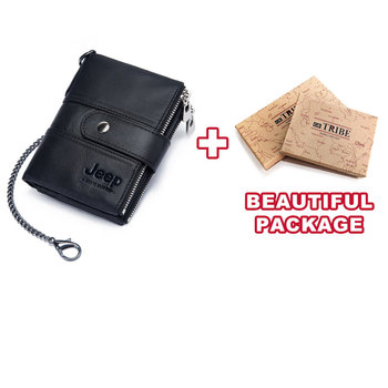 100% Genuine Leather Rfid Wallet Men Crazy Horse Wallets Coin Purse Short Male Money Bag Mini Walet High Quality Boys 24