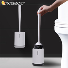 Rubber Head Toilet Brush Soft Non-slip TPR Cleaning Brush White Wall Hanging Floor Super Decontamination Bathroom Cleaning Tool
