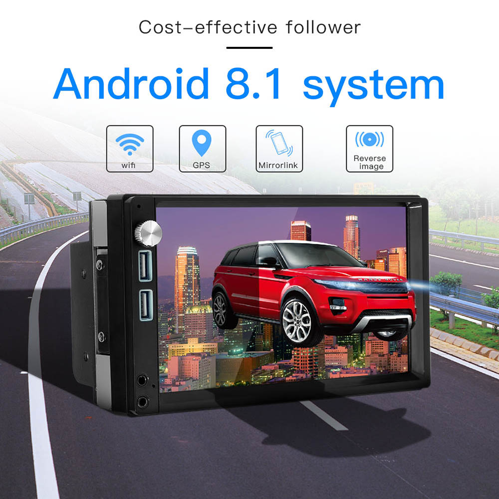 Auto Radio Android 8,1 Autoradio 2 din MP5 GPS Stereo Receiver 2din Auto Stereo Audio Radio Para Coche MirrorLink Wifi hinten Kamera