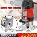 2200 Вт Электрический ручной триммер 220В/110В деревянный ламинатор маршрутизатор 6 35 мм Обрезка резьба фрезерный станок деревообрабатывающие э...