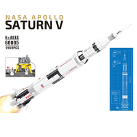 New Apollo Saturn V Rocket Toys Compatible 21309 Outer Space Model Building Blocks Kit Educational Toys For Kids Child Gift