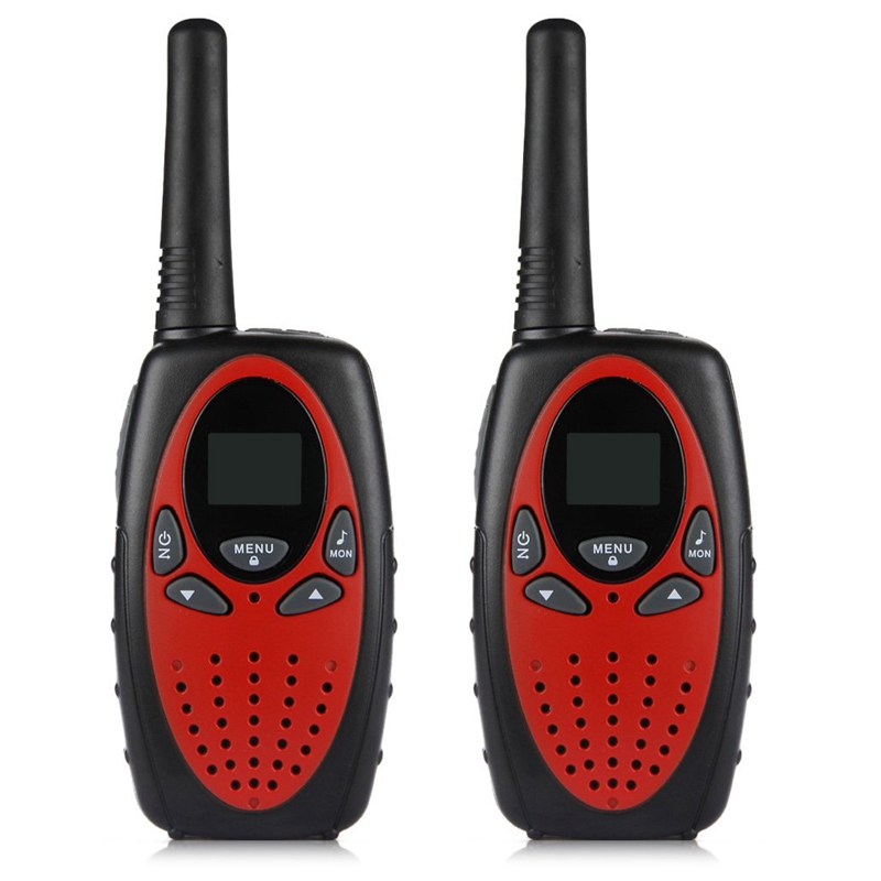 Excelvan 8 Channel Pair Of Walkie Talkies UHF400-470MHZ 2-Way Radio 3KM Range Red And Black Intercom