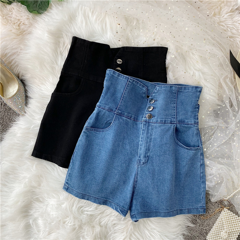 Summer Hot Shorts 2020 Women Slim Shorts Casual Denim Sexy Ultra High Waist Joker Basic Shorts Women Denim Shorts For Womens