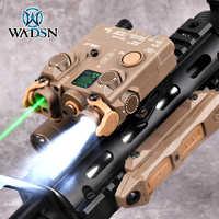 WADSN-MIRA LÁSER DBAL A2, luz táctica de nailon verde, Airsoft, M300B, A2, PEQ, traje de láser rojo y azul, doble interruptor remoto, Rifle