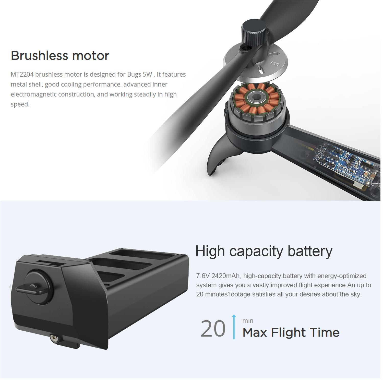 MJX Bugs 5W B5W Профессиональный радиоуправляемый Дрон с камерой 4K Дрон камера HD 5G Wifi бесщеточный Радиоуправляемый квадрокоптер gps жесты фото Vs H501S - 3
