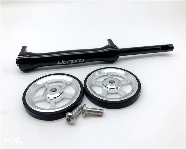 Litepro Quality Easy Wheel Extension Rod Telescopic For Brompton Folding Bicycle