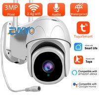 Telecamera TUYA Wifi da 3mp Smartlife Cloud PTZ telecamera IP monitoraggio automatico esterno Google Home Alexa videosorveglianza telecamera di sicurezza CCTV