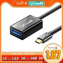 QGeeM USB C OTG 케이블 어댑터 USB 3.0 USB 2.0 OTG type c OTG for samsung galaxy s8 s9 화웨이 P10 P20 메이트 20 프로 맥북 USB OTG