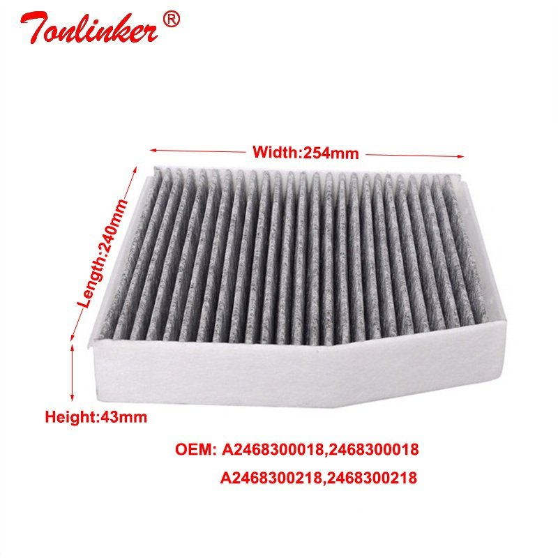 Image 4 - Cabin Filter A2468300218 For Mercedes B Class W246,W242 2011 2019 B160 B180 B200 B220 B250 Model 1 Pcs Built in Carbon Filter-in Cabin Filter from Automobiles & Motorcycles