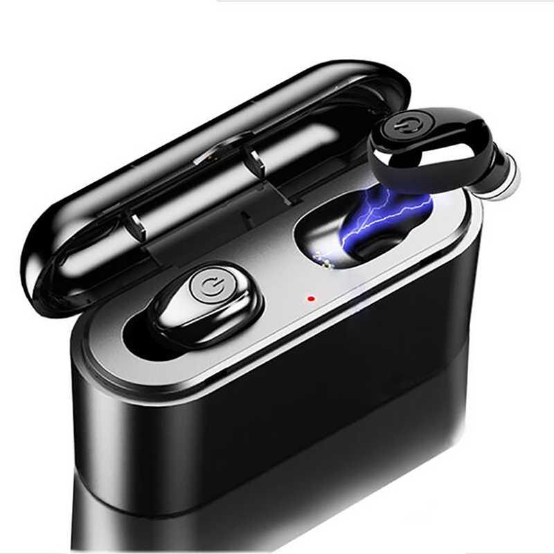 X8 TWS Bluetooth ワイヤレスイヤフォン 6D ステレオ真イヤホンミニ TWS 防水 Headfrees 2200 2600mah のパワーバンクとイヤホン