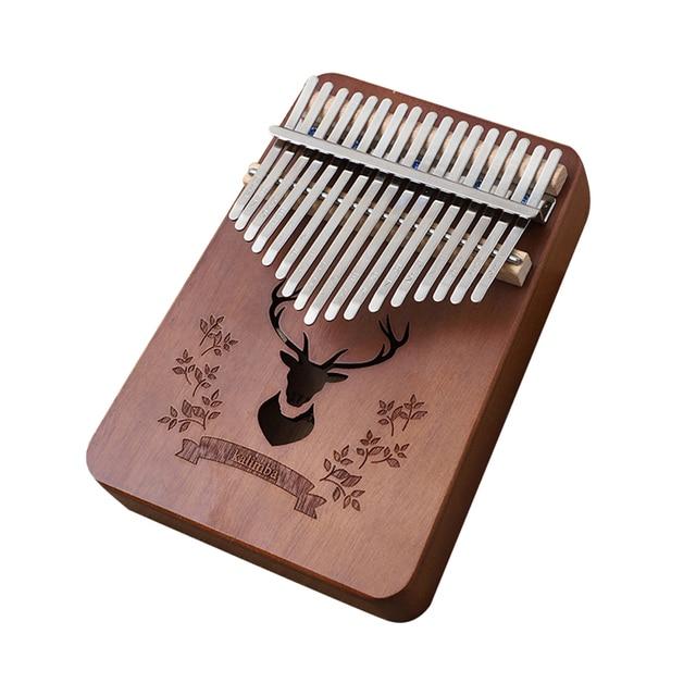 17 Keys Kalimba African Thumb Finger Piano Wood Kalimba Portable Musical Instrument