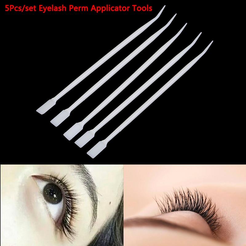 5PCS Eyelash Perm Pad Eyelash Perming Sticks Pick Recycling Lashes Shield Lifting Curlers Eyelash Makeup Accessories Applicator