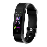 Pulseira inteligente rastreador de fitness relógio de saúde banda freqüência cardíaca pressão arterial à prova dwaterproof água pulseira inteligente para homem mulher smartband