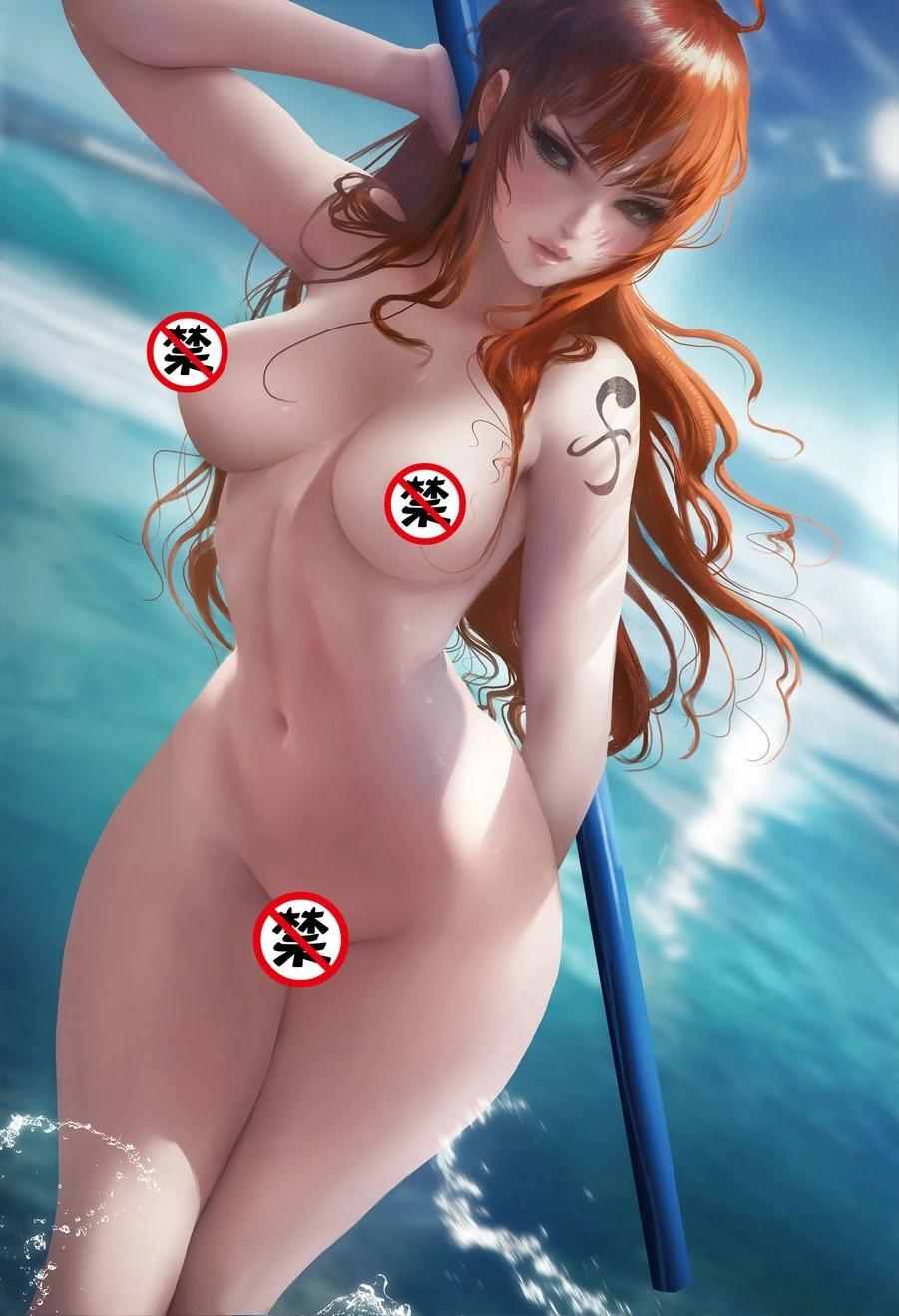 One piece nami naked