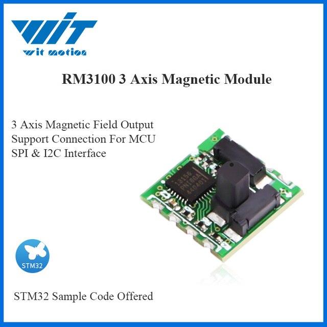 WitMotion haute précision RM3100 capteur de magnétomètre de qualité militaire Module de champ magnétique boussole électronique numérique pour MCU