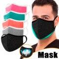 Маска для взрослых однотонная хлопковая маска для лица Регулируемая Тканевая маска для лица моющаяся маска для мужчин и женщин многоразова...