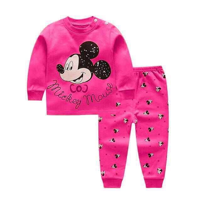 2020 ใหม่เสื้อผ้าเด็กชุดฤดูหนาวผ้าฝ้ายเด็กแรกเกิดเด็กทารกเสื้อผ้าเด็กMickeyชุดนอนUnisexเสื้อผ้าเด็กชุด