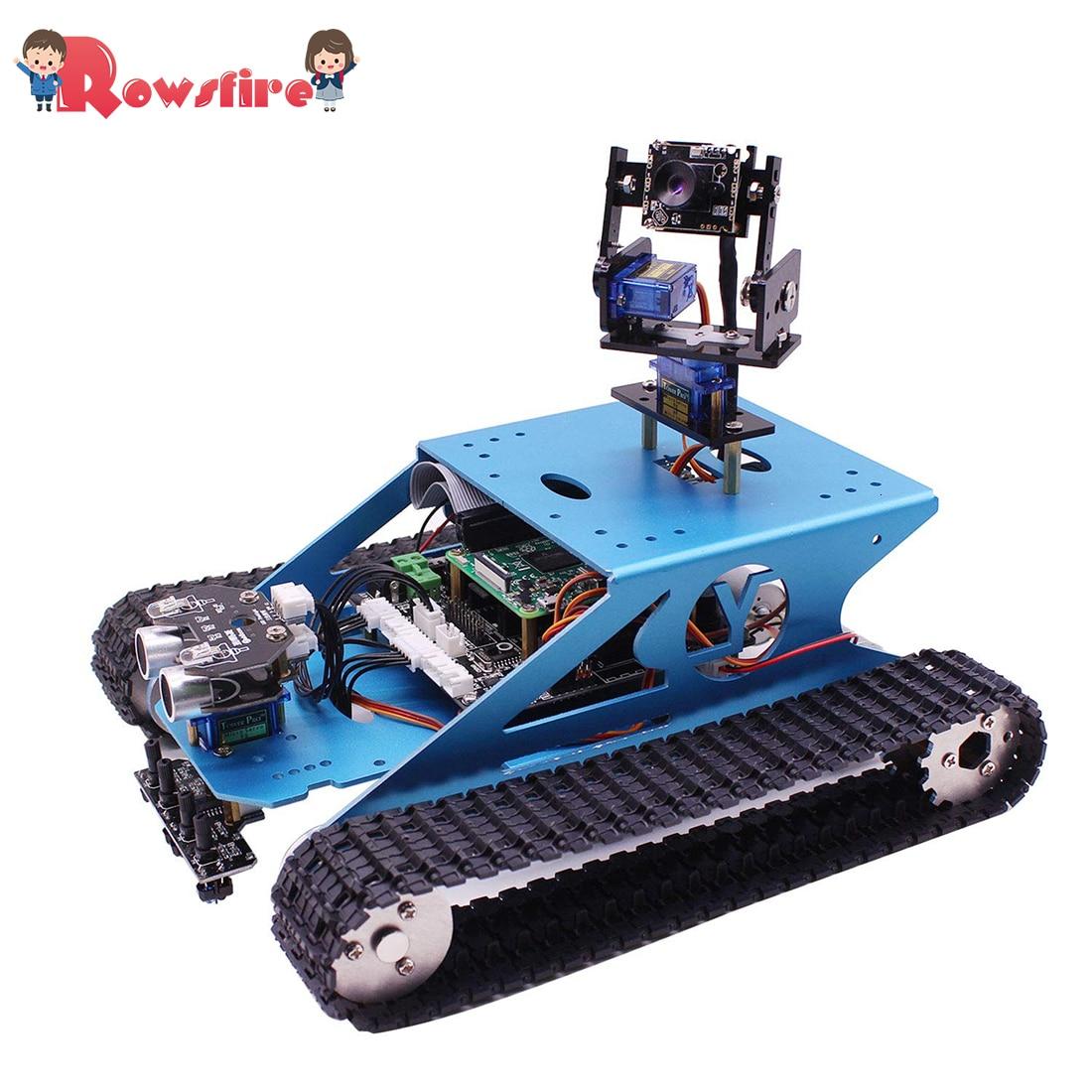 New Hot Raspberry Pi Tank Smart Robotic Kit WiFi Wireless Video Programming Electronic Toy DIY Robot Kit For Kids Adults