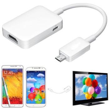 Micro USB a HDMI Cable adaptador hembra 1080P HD para MHL 2,0 dispositivo HDTV adaptadores para Samsung Galaxy HUAWEI