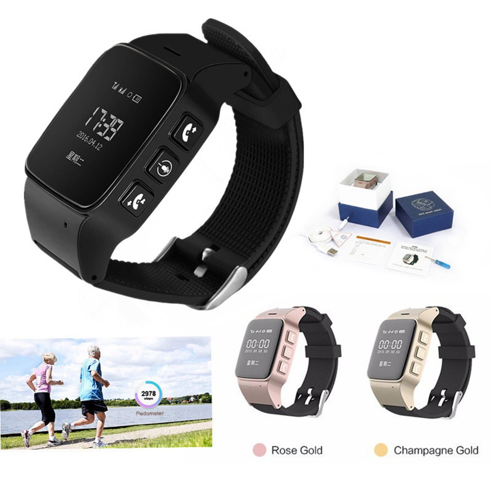 D99/D99+ Elderly GPS Wifi Tracker SOS Sports Wristwatch Safety Anti-Lost Locator Watch for IOS Android Smart Watch Band 2019