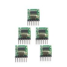 5 個 433 315mhzスーパーヘテロダインrfワイヤレス送信機モジュール 1527 エンコーディングEV1527 コードワイド電圧 3v 24 リモコン用