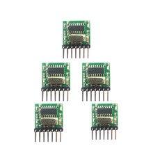 5 pièces 433 Mhz superhétérodyne RF sans fil émetteur module 1527 codage EV1527 Code large tension 3V 24V pour télécommande