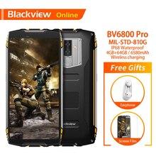 "Blackview BV6800 Pro 4GB + 64GB 5.7 ""su geçirmez Smartphone 18:9 ekran 6580mAh Android 8.0 kablosuz şarj cep telefonu"