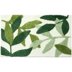 Image 3 - Honlaker緑の葉植毛マットスリップ吸収性マイクロファイバー浴室の敷物ホーム玄関ドアマットスーパーソフトバスカーペット