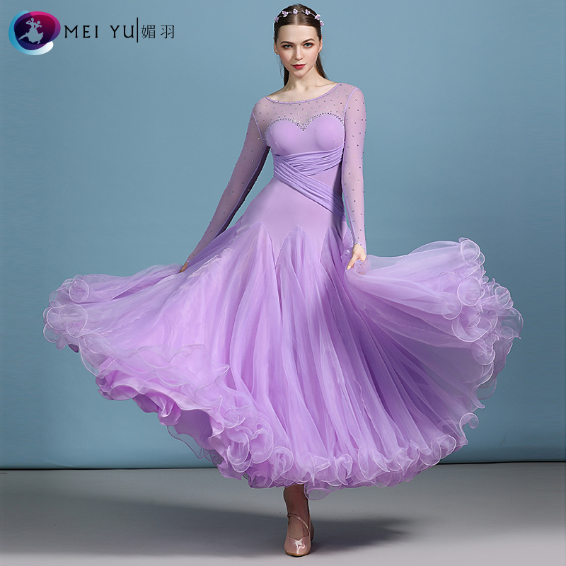 New Ballroom Dance Competition Dress Dance Ballroom Waltz Dresses Standard Dance Dress Women Ballroom Dress  MY820