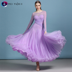 Nieuwe ballroom danswedstrijd jurk dans ballroom waltz jurken standaard dans jurk vrouwen ballroom jurk MY820