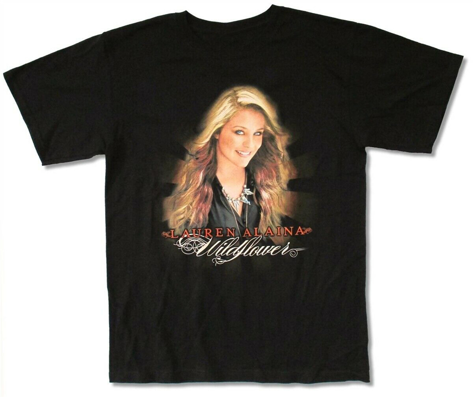 <font><b>Lauren</b></font> Alaina Wildflowers Tour NY-SC Black T Shirt New Merch Tee Shirt customize O Neck image