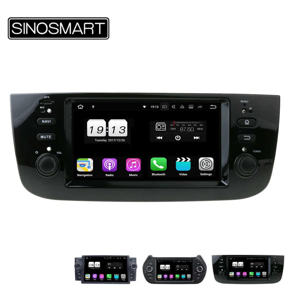 Sinosmart 2/4G Ram 4/8 Core CPU Mobil GPS Navigasi Pemain untuk LINEA Fiat Punto EVO Grande Punto fiorino 2007-2015 dengan CANBUS