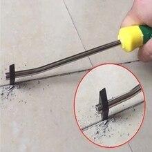 Профессиональный керамика плитка затирка средство для удаления вольфрам сталь плитка щель очиститель сверло бит для пола стены шов цемент чистка рука инструменты