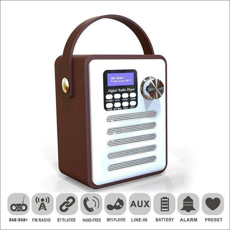 Новый горячий Деревянный цифровой Bluetooth DAB/DAB + FM радио MP3 плеер беспроводной динамик стерео радио - 3